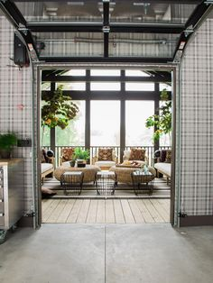 Connected Spaces trendy glasses Screened Porch Pictures From HGTV Urban Oasis 2016 Outdoor Spaces, Indoor Outdoor, Outdoor Living, Outdoor Decor, Outdoor Ideas, Glass Garage Door, Garage Doors, Glass Doors, Patio Doors