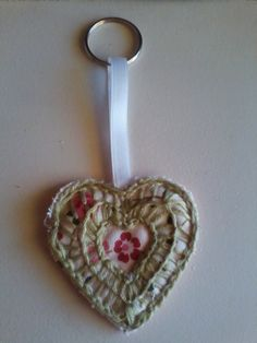 OOAK Heart Shaped Key Chain Bag/Purse Charm by HeartWarmingCraft Gifts For Wife, Key Chain, Heart Shapes, Belly Button Rings, Purses And Bags, Charmed, Trending Outfits, Unique Jewelry, Handmade Gifts