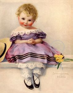 This beautiful victorian art print is of a sweet precious little girl. She has a beautiful face and looks directly at you. She has flowers Victorian Pictures, Vintage Pictures, Vintage Images, Vintage Ephemera, Vintage Cards, Vintage Postcards, Images Victoriennes, Decoupage, Baby Illustration