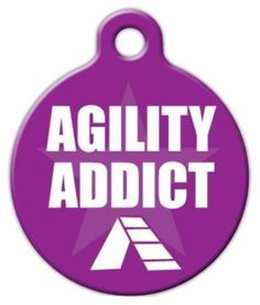 This tag is perfect for dogs who enjoy agility training!Each of our pet ID tags are designed and illustrated by artists from all over the globe, and printed with affection and care in the mountains of North Carolina. They are ultra-durable and are guaranteed to always be legible.