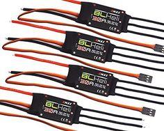 powerday 4x EMAX BLHELI 30A ESC BEC 2A5V Speed Controller for FPV RC QAV250 Quadcopter