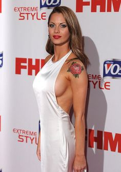 Jessica-Jane Clement steps out in daring dress at the FHM 100 Sexiest Women of the Year Awards