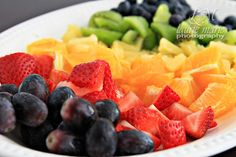 Colorful fruit rainbow. Primary colors party theme. lauriemariephotography.com