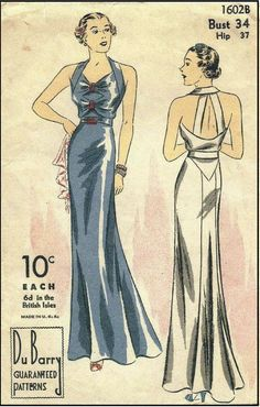 1930s DuBarry 1302B Evening Gown