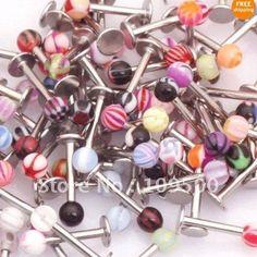 16g Labret Spike Lip Rings Bars Monroe Body Jewelry,Piercing Jewellery. OMG HEAVEN.