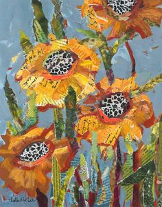 Yellow Flowers original painting