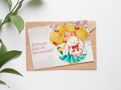Húsvéti képeslap (INGYENES) - Gallay-Nagy Krisztina grafikus, illusztrátor Place Cards, Place Card Holders