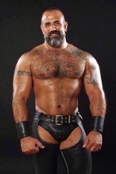 Black hunk nails leather daddy