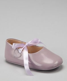 Take a look at this Lavender Ribbon Patent Mary Jane by Petit Pas on #zulily today!
