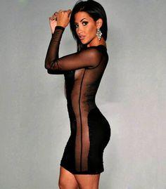 Sexy women dress 2015 new arrival ladies long sleeve patchwork party clubwear sheath o-neck mini dress black roupa feminina sale