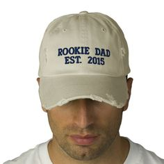 Rookie Dad Distressed Baseball Cap