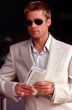 brad pitt as rusty in the oceans movies (: