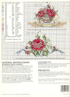 Cross-stitch Bouquet Corner Bookmarks, part 5