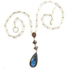 Margery Hirschey - Labradorite and Diamond Necklace