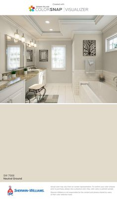 I found this color with ColorSnap® Visualizer for iPhone by Sherwin-Williams: Neutral Ground (SW 7568).