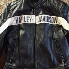 Ladies Harley Davidson Leather motorcycle jacket Harley Davidson genuine leather motorcycle jacket. In excellent used condition. All hardware in tact. Harley-Davidson Jackets & Coats