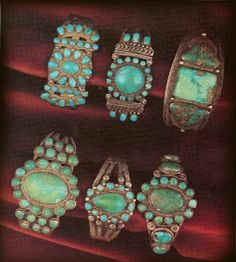 -Native American Vintage Turquoise Jewelry