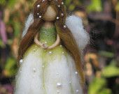 Flower Fairy , lily of the valley, needle felted doll, waldorf inspired