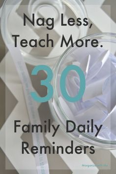 Encourage more harmony in your home with these 30 family daily reminders. *FREE printable*