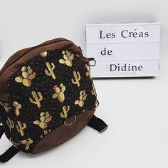 @les_creas_de_didine sur Instagram: #sacotin #sac #cactus #couture #marronetnoir #avantetarriere ( sac vendu avec licence )