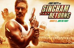 SINGHAM RETURNS - The next Rohit Shetty & Ajay Devgn Bonanza. Reliance Entertainment in association with Ajay Devgn Films and Rohit Shetty Productions bring . Movies 2014, Latest Movies, New Movies, Movies To Watch, Movies Online, Movies Box, Trailer Song, Official Trailer, Movie Trailers