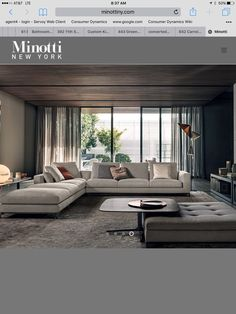 The Best 2019 Interior Design Trends - Interior Design Ideas Living Room Decor Curtains, Living Room Sofa Design, Home Room Design, New Living Room, Home Interior Design, Living Room Designs, Home Cinema Room, Living Room Inspiration, House Rooms