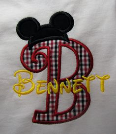Hey, I found this really awesome Etsy listing at http://www.etsy.com/listing/167400244/personalized-mickey-mouse-initial-or