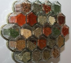 Magnetic spice rack from jars
