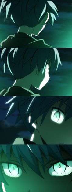 Nagisa gets that scary look from everything that he's been going through, and my God it's scary look ❤