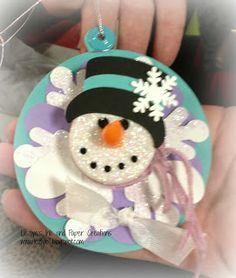 Tealight Snowman Ornament
