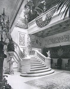 Grand staircase at the W. A. Salomon Town House 1020 Fifth Avenue & 83rd St.