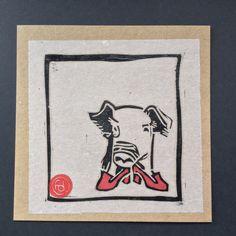 Pork. Linocut Print. Hand-Pressed. Original art. by LinoCuttyCuts on Etsy