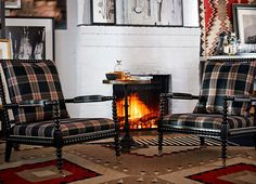 Relax by the fire with these new pieces from the New West Village Collection from Ralph Lauren Home - RalphLaurenHome.com available January 2016