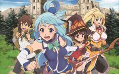 Anime KonoSuba – God's Blessing On This Wonderful World!!  Aqua (KonoSuba) Darkness (KonoSuba) Megumin (KonoSuba) Kazuma Satou KonoSuba Wallpaper