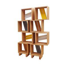 Meuble bibliothèque modulable 8 casiers bois jaune gris blanc ATELIER MOBIBOIS : prix, avis & notation, livraison.  Créez votre bibliothèque! Meuble bibliothèque composé de 8 casiers en chêne massif et quatre éléments pieds, facile à monter, des dizaines de compositions différentes à imaginer et à monter soit même. Designés et fabriqués en Provence par l'Atelier Mobibois. Ces modules s'adaptent à tous les...