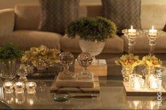 decoração da minha mesa de centro, coffee table, decoração com velas, candles,