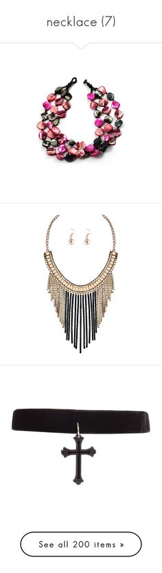 """""""necklace (7)"""" by geniusmermaid on Polyvore featuring jewelry, necklaces, women, layered bead necklace, strand necklace, beaded necklaces, double layer necklace, seashell necklace, earrings and fringe earrings"""
