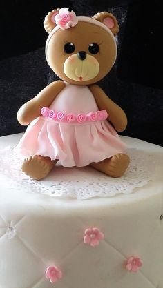 Baby Bear Cake Topper, Teddy Bear Baby Shower, Pink Bear For Cake Topper, Baby Bear for Cake Decorations, Pink Teddy Bear for Cake, Blue Bear Cake Topper
