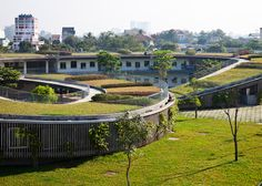 Children can grow vegetables on the roof of this kindergarten in Vietnam.