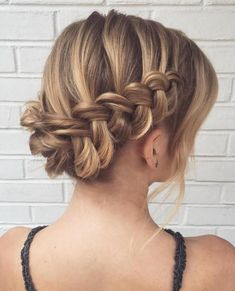 Updo With Dutch Waterfall Braid