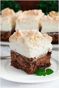 Best Dessert Recipes, No Bake Desserts, Cake Recipes, Polish Desserts, Polish Recipes, Food Cakes, Sweet Cakes, Homemade Cakes, Easy Snacks