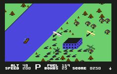 Blue Max on C-64. One of the first C-64 games I ever played.