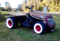 Custom lawn tractor. Share photos of your projects with us: http://www.facebook.com/smallengineparts