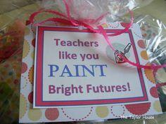 Teacher pedicure gift ...cute idea!