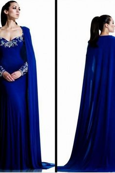 Sexy sweetheart neckline chiffon long - sleeved donated cloak prom party evning dress