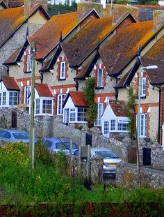 Fisherman's cottages in Beer, Devon, England