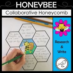 A fun activity when learning about honeybees. Research information about honeybees. Write a fact in each of the 6 honeycomb cells. Display together on the wall to make a collaborative honeycomb. Two Templates Included: ♦ Activity Sheets, Teaching Materials, Student Learning, Honeycomb, Teacher Resources, Research, Fun Activities, Classroom, Facts