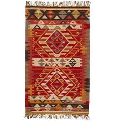 Our exclusive x Ramona Kilim Rug features fringe detail on each side. * wool, cotton * Dry clean only * Rug pad recommended * Imported Let Freedom Ring, Dhurrie Rugs, Kilim Rugs, Cheap Rugs, Striped Rug, Red Rugs, Rugs In Living Room, Living Area, Living Spaces