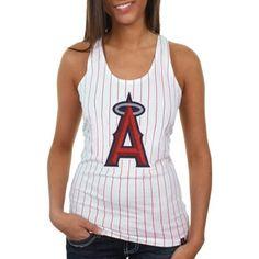 Los Angeles Angels of Anaheim Ladies Striped Baseball Tank