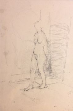 Nude in an interior - Euan Uglow Figure Painting, Figure Drawing, Painting & Drawing, Drawing Skills, Life Drawing, English Artists, Sad Art, Famous Art, Figurative Art